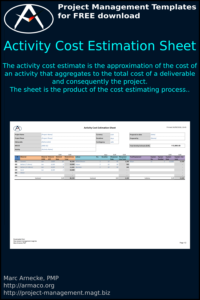 Download Activity Cost Estimation Sheet Template