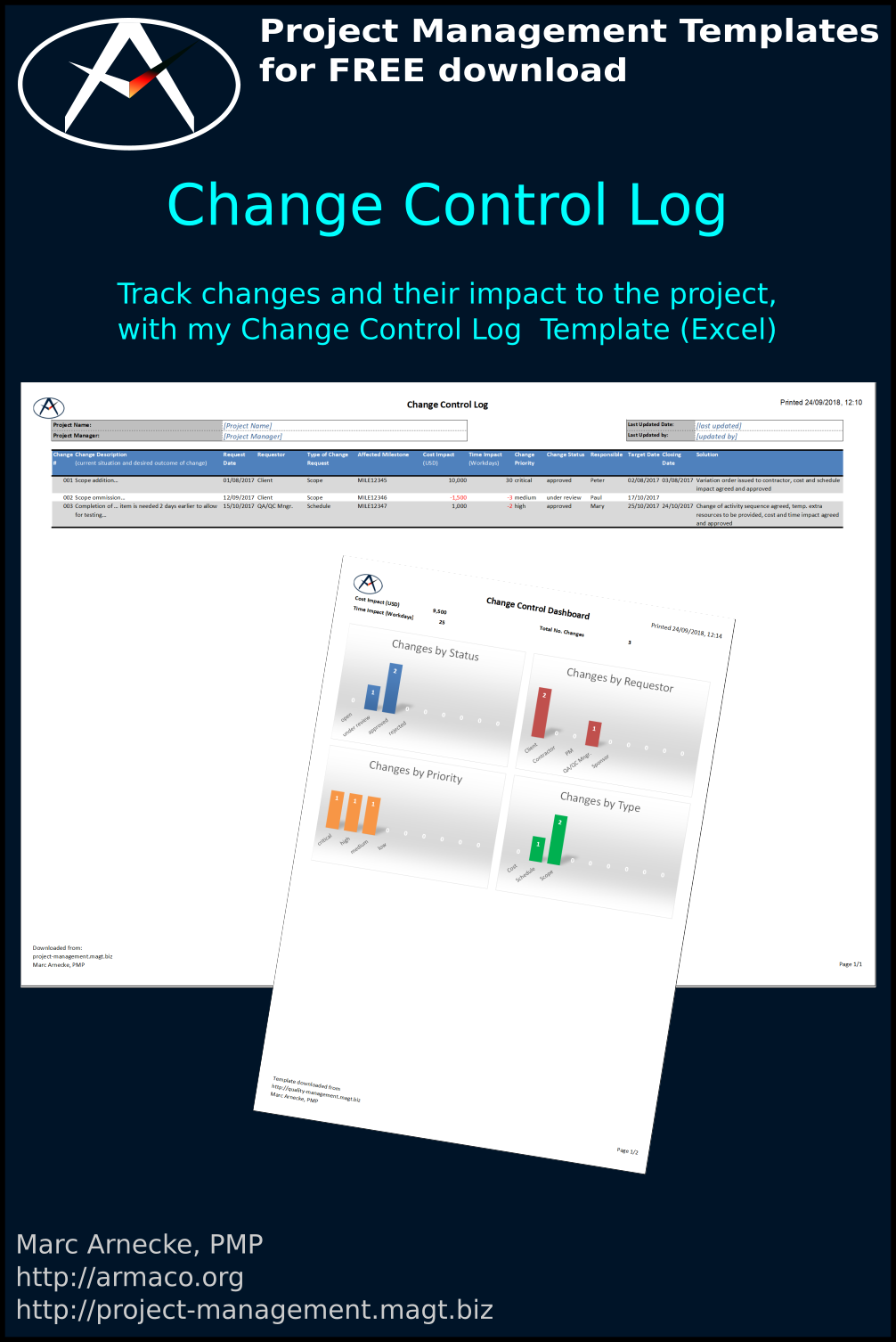 Project Change Control Log Template