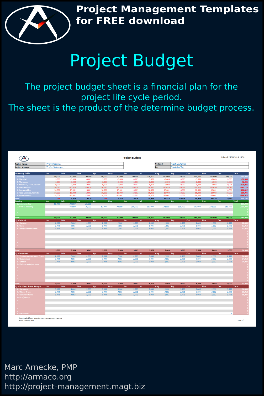 Download Project Budget Sheet