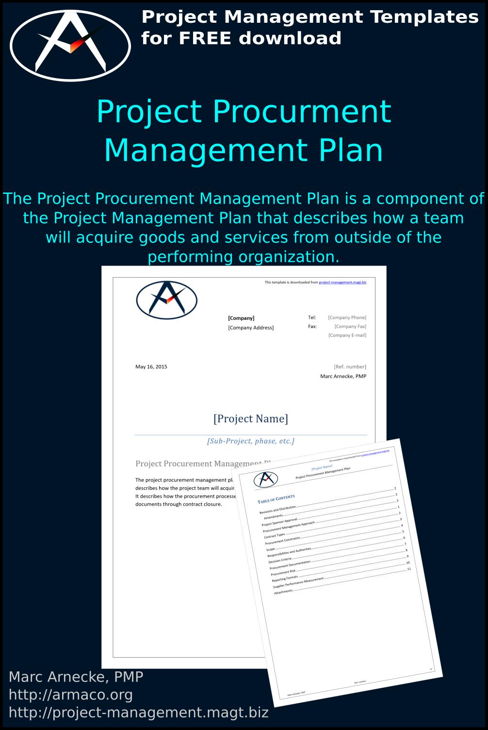 Download Project Procurement Management Plan