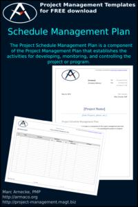 Download Schedule Management Plan Template