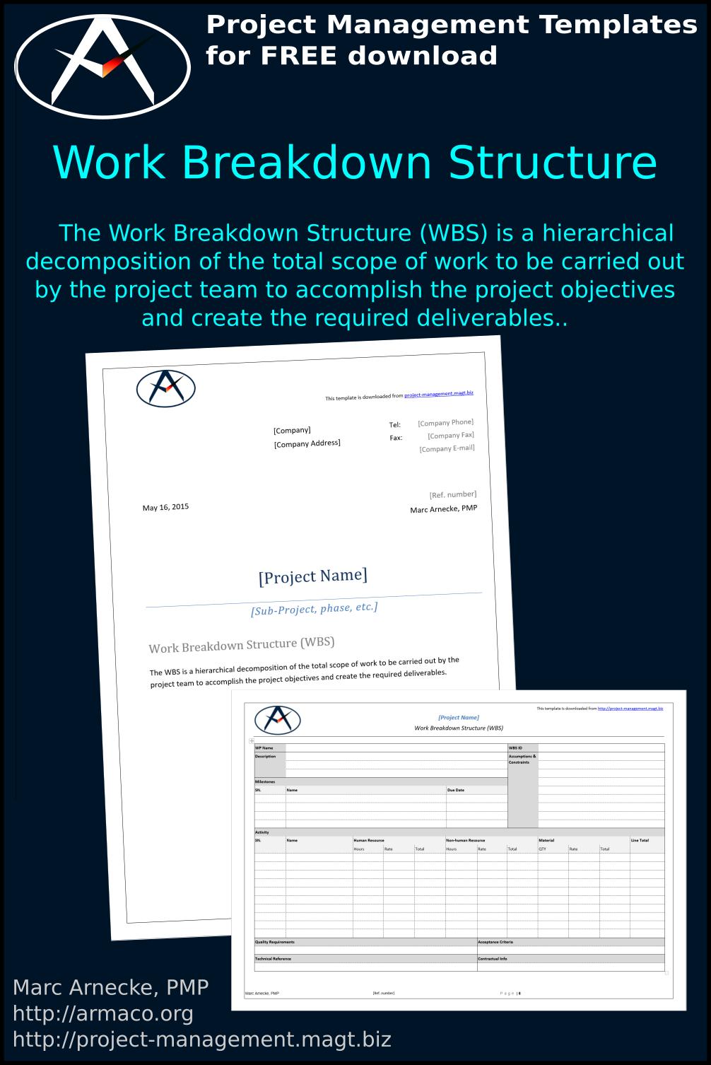Download work breakdown structure template