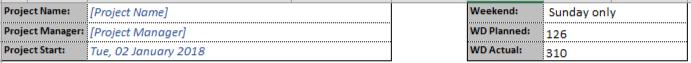 Gantt Chart Template - Header